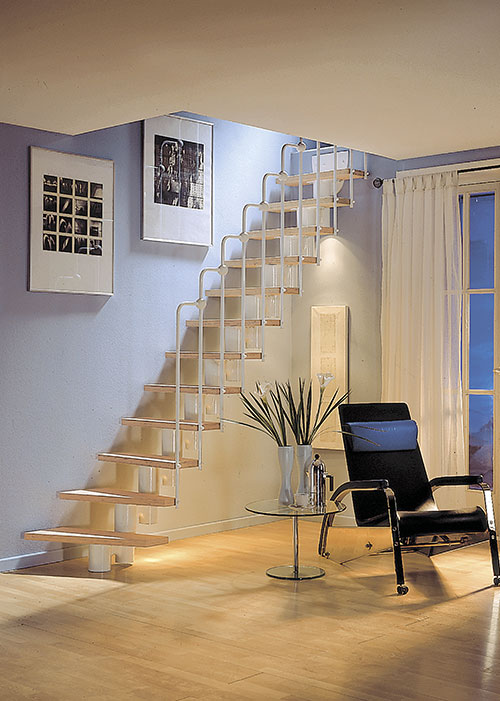 Mittelholmtreppe als Nebentreppe